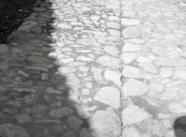 Λεπτομέρεια βοτσαλωτού δρόμου